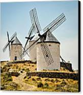 Don Quixote's Windmills Canvas Print by Tetyana Kokhanets