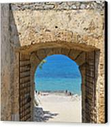 Door To Joy And Serenity - Beautiful Blue Water Is Waiting Canvas Print by Matthias Hauser