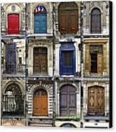 Doors Of Paris Canvas Print by Heidi Hermes