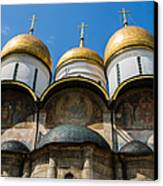 Dormition Cathedral - Square Canvas Print by Alexander Senin