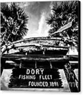 Dory Fishing Fleet Sign Picture In Newport Beach Canvas Print by Paul Velgos