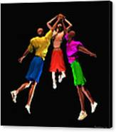 Double Teamed Canvas Print by Walter Oliver Neal