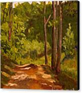 Down The Road Canvas Print by Janet Felts
