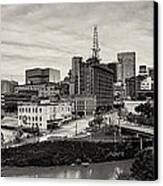 Downtown Houston From Uh-d Canvas Print by Silvio Ligutti