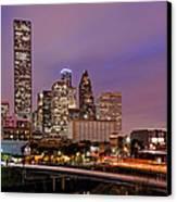 Downtown Houston Texas Skyline Beating Heart Of A Bustling City Canvas Print by Silvio Ligutti