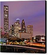Downtown Houston Texas Skyline Beating Heart Of A Bustling City Canvas Print by Silvio Ligutti