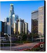 Downtown L.a. Canvas Print by Inge Johnsson