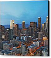 Downtown Los Angeles Canvas Print by Kelley King