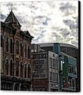 Downtown Nashville Canvas Print by Dan Sproul
