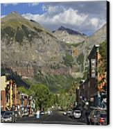 Downtown Telluride Colorado Canvas Print by Mike McGlothlen