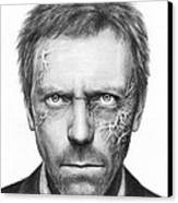 Dr. Gregory House - House Md Canvas Print by Olga Shvartsur