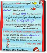 Dr Seuss - Quotes To Change Your Life Canvas Print by Georgia Fowler