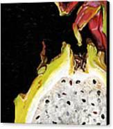 dragon fruit yellow and red Elena Yakubovich Canvas Print by Elena Yakubovich