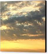 Dramatic Sunglow Canvas Print by Deborah  Crew-Johnson