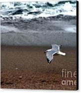 Dreamy Serene Ocean Waves Coastal Scene Canvas Print by Kathy Fornal