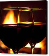 Drinks By The Fire Canvas Print by Andrew Soundarajan