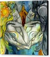 Duality Canvas Print by Patricia Ariel
