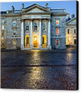 Dublin Trinity College Chapel At Night Canvas Print by Mark E Tisdale