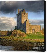 Dunguaire Castle With Dramatic Sky Kinvara Galway Ireland Canvas Print by Juli Scalzi