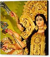 Durga Idol Canvas Print by Money Sharma
