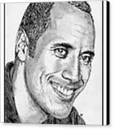 Dwayne Johnson In 2007 Canvas Print by J McCombie