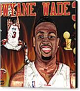 Dwyane Wade Canvas Print by Israel Torres