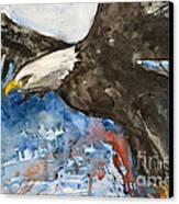 Eagle In Flight Canvas Print by Ismeta Gruenwald
