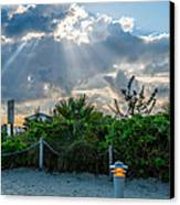 Earthly Light And Heavenly Light  Canvas Print by Ian Monk
