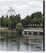 East Riverfront Park And Dam - Spokane Washington Canvas Print by Daniel Hagerman
