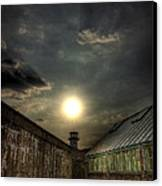 Eastern State Penitentiary Sunset Canvas Print by Kim Zier
