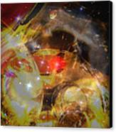 Echoes Of The Red Star Canvas Print by Judy Paleologos