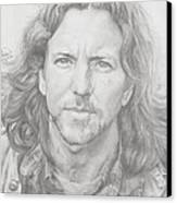 Eddie Vedder Canvas Print by Olivia Schiermeyer