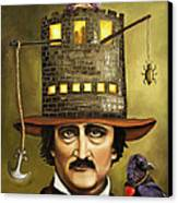 Edgar Allan Poe Canvas Print by Leah Saulnier The Painting Maniac