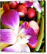 Edible Flowers Canvas Print by Jacqueline Athmann