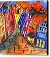 Edinburgh's Royal Mile  Canvas Print by Karen Larter