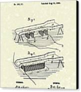 Edison Ore Separator 1882 Patent Art Canvas Print by Prior Art Design