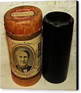 Edison Phonograph Cylinder 9750 Comic Song  Garibaldi  Canvas Print by Bill Cannon