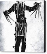 Edward Scissorhands - Johnny Depp Canvas Print by Ayse Deniz