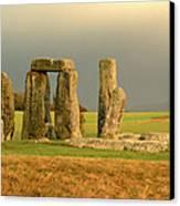 Eerie Stonehenge 3 Canvas Print by Deborah Smolinske