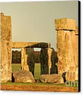 Eerie Stonehenge 4 Canvas Print by Deborah Smolinske