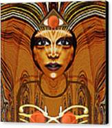 055 - Egyptian Woman Warrior Magic   Canvas Print by Irmgard Schoendorf Welch