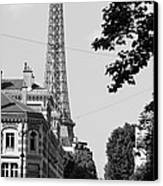 Eiffel Tower Black And White 4 Canvas Print by Andrew Fare