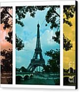 Eiffel Tower Paris France Trio Canvas Print by Patricia Awapara