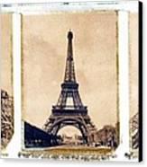 Eiffel Tower Canvas Print by Tony Cordoza