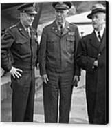 Eisenhower & Marshall 1944 Canvas Print by Granger