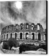 El Jem Colosseum 2 Canvas Print by Dhouib Skander