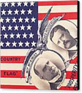 Electoral Poster For The American Presidential Election Of 1900 Canvas Print by American School