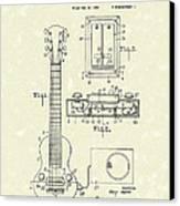 Electric Guitar 1937 Patent Art Canvas Print by Prior Art Design