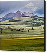 Electric Peak Canvas Print by Bill Gallagher
