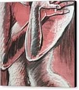 Elegant Pink - Nudes Gallery Canvas Print by Carmen Tyrrell